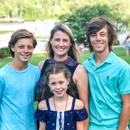 Molly Markulics with her kids