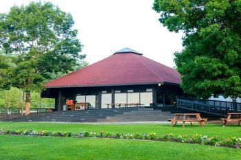 the dining hall at Camp Mataponi