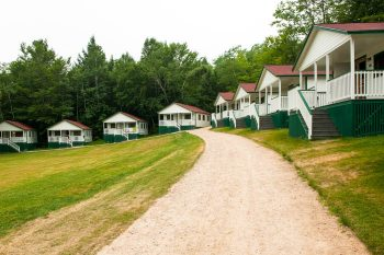 a row of cabins at Camp Mataponi