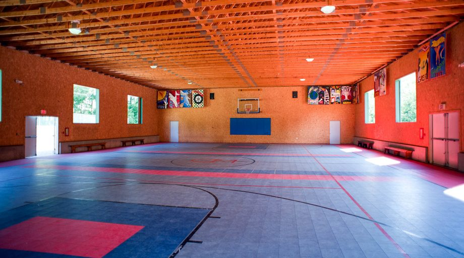 the gymnasium at Camp Mataponi