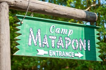 Camp Mataponi entrance sign