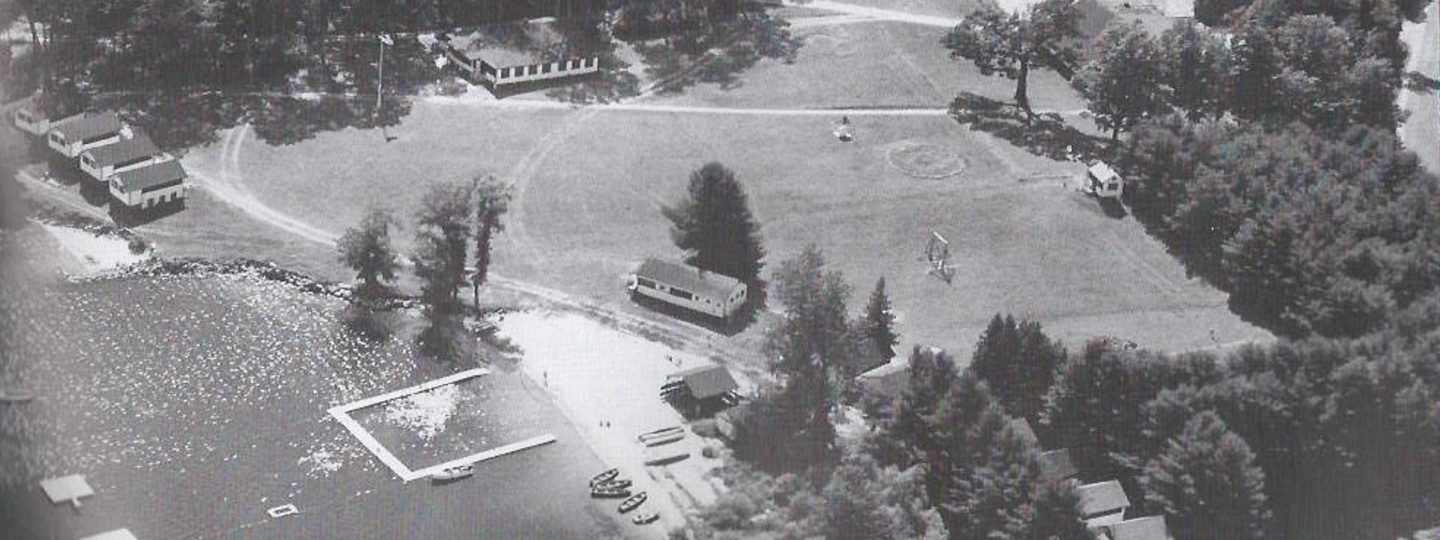 an old aerial photograph of Camp Mataponi