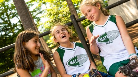 Mataponi campers laughing together