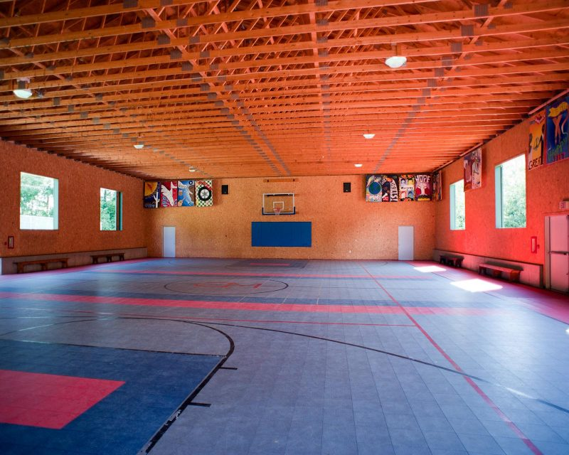 an indoor gym at Camp Mataponi